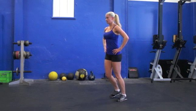 alternating lunges - step 1