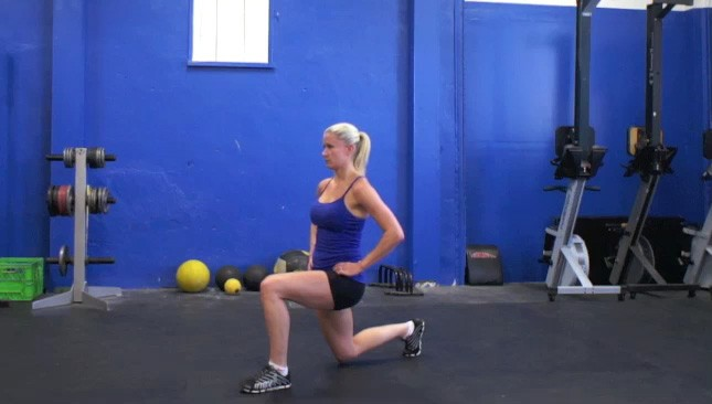 Picture of a female doing Alternating Lunges Exercise
