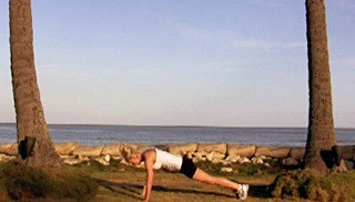 beach body weight burpee - step 2