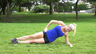 outdoor side plank hip raise - step 2