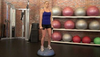 shoulder raise on bosu - step 1