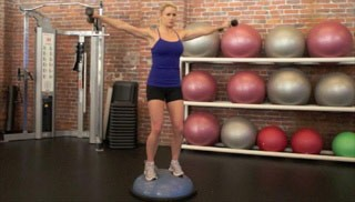 shoulder raise on bosu - step 3