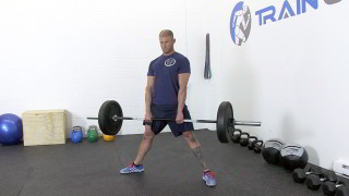 Male exercising - sumo deadlift