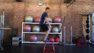 Picture of a male doing Box Jumps Exercise