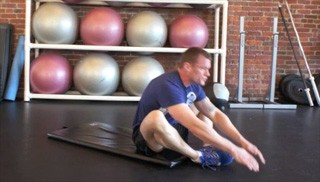 butterfly sit-ups - step 3