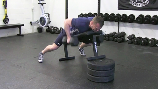 Chest Supported Dumbbell Row exercise for men
