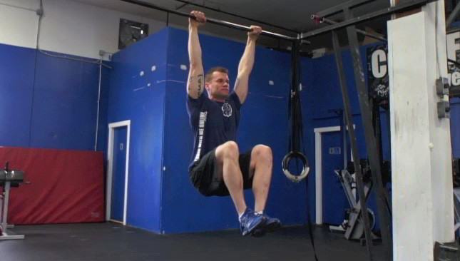 Image result for hanging tuck ups with iso hold