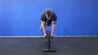 hop overs on the bench exercise