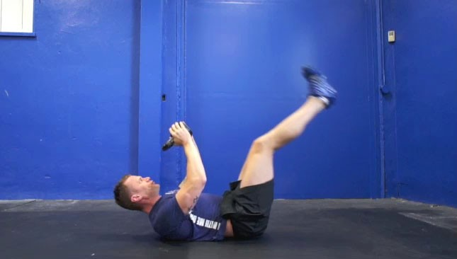 kettlebell hip raises - step 1