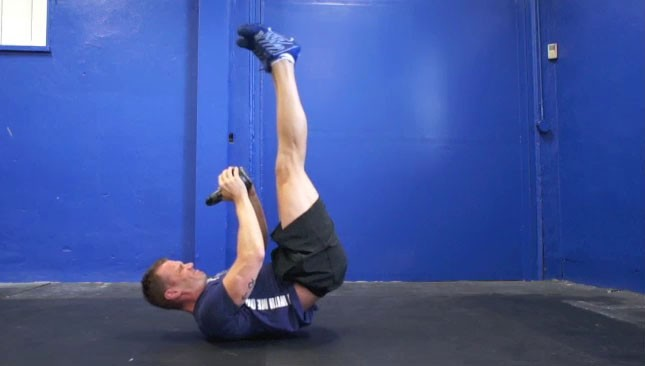 kettlebell hip raises - step 2