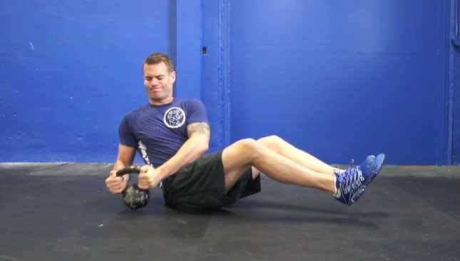Kettlebell Trunk Twists Exercise