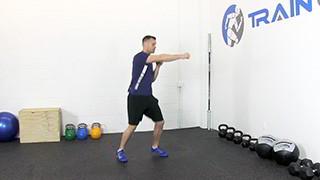 Male exercising - left right combo