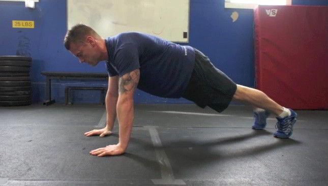 plank knee to elbow - step 1