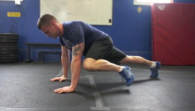 Plank Knee To Elbow Exercise