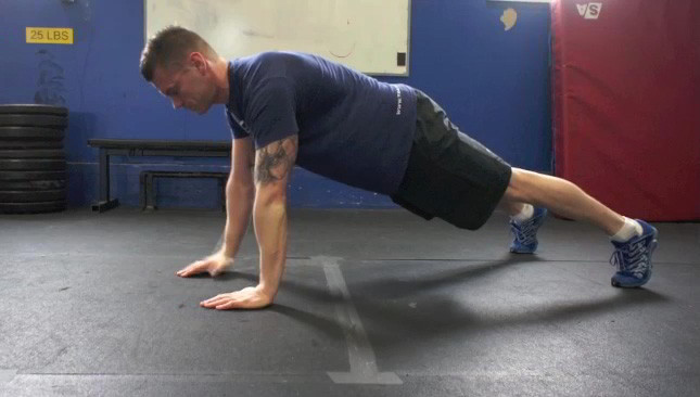 plank to push up - step 2