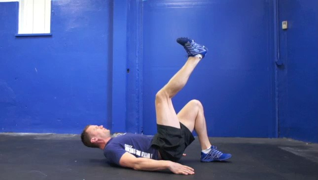 single leg glute bridge - step 3