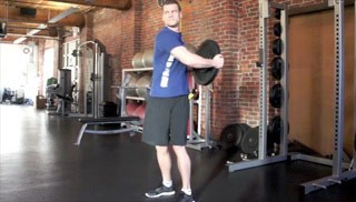 Trunk Twist W Weight Plate Exercise
