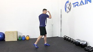 Male exercising - uppercuts