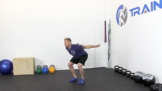 Male exercising - vertical jump