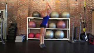 Picture of the burpee box jump combo